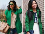 Із чим носити зелене пальто