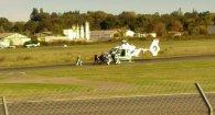 В результаті падіння легкомоторного літака загинула людина.