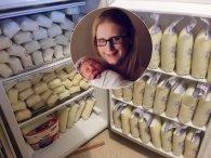 6 літрів: саме стільки у неї  виробляється грудного молока в день