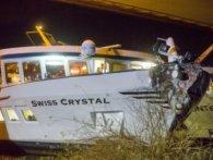 До 30 туристів постраждало внаслідок зіткнення теплохода з мостом