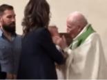 Священик дав ляпаса дитині під час обряду хрещення (відео)