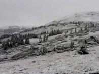 У Карпатах посеред літа випав сніг (фото)