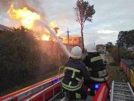На Тернопільщині спалахнула спиртбаза (фото)