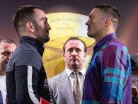 Боксери готові до бою: битва поглядів Усик-Гассієв (відео)