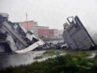 В Італії внаслідок обрушення автомобільного мосту загинули десятки людей (фото)