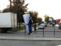 У Тернополі людей із пантелику збиває занадто реалістична реклама (фото)