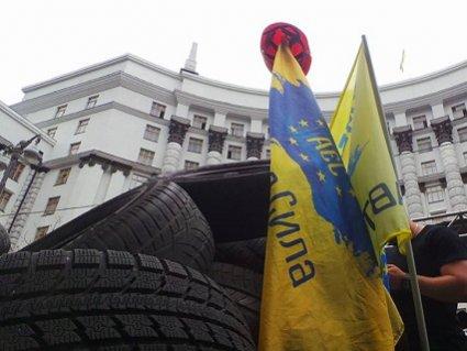 У центрі Києва величезні затори через автопротест