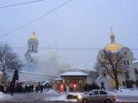 В Києві горить Києво-Печерська Лавра (фото, відео)