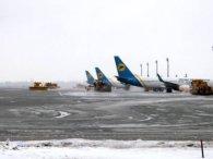 Пасажирам до уваги: через снігопади у «Борисполі» можливі затримки рейсів