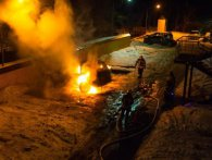 В Києві елітне авто вибухнуло і згоріло вщент (фото, відео)