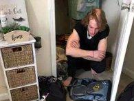Студентка знайшла у себе в шафі чоловіка, який прожив там декілька днів (відео)