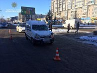 У Луцьку авто на переході збило пішохода (фото)