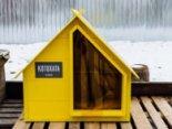 «Котохата»: у Києві встановлюють хатинки для бездомних котів (фото)