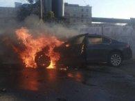 У Рівному спалахнув автомобіль (фото)