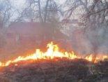 У Луцьку через спалювання сухостою мало не згоріла хата (фото)