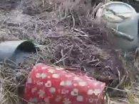 На волинське кладовище вивезли старі телевізори, ліжка і навіть унітази (відео)