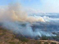 Показали наслідки масштабної пожежі на кордоні з Білоруссю (відео)