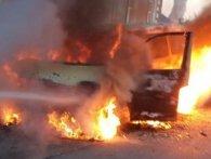 На Львівщині згорів мікроавтобус