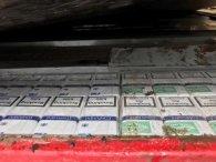 Зробив подвійне дно та намагався вивезти за кордон понад 11 тисяч пачок цигарок (фото)
