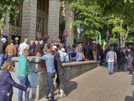 У Києві протестують шахтарі з Львівщини (фото, відео)