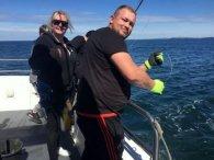 В Ірландії жінка впіймала рідкісну 500-кілограмову акулу (відео)