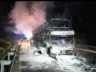 У Польщі згорів автобус Київ-Прага, в якому їхали українці (фото)