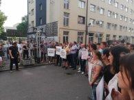 «Вбивці мають бути покарані»: у Луцьку протести біля поліцейського главку (фото)