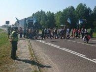 На Львівщині шахтарі перекрили трасу (фото)