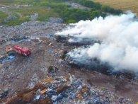Рівне накрило ядучим димом: палає міське сміттєзвалище (фото)