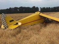 Під Полтавою впав літак – пілот загинув (фото)