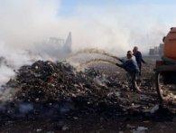 На Рівненщині загорілося сміттєзвалище