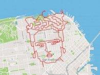 Спортсмен-художник малює картини пробіжками (фото)