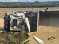 На Волині перекинулася вантажівка – загинув водій