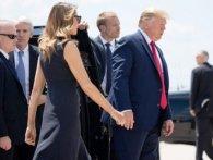 «Прикликав, як собаку»: соцмережі обурені поводженням Трампа з дружиною (відео)