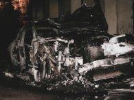 У Києві спалили автомобіль сина ексглави НБУ Гонтаревої (відео)